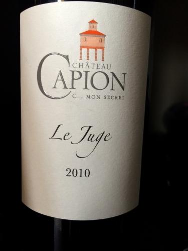 Chateau Capion - Le juge - 2010 - Rouge