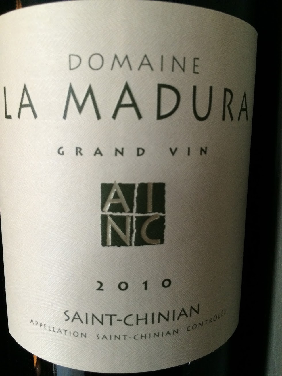 La Madura - Grand Vin - Rouge - 2010