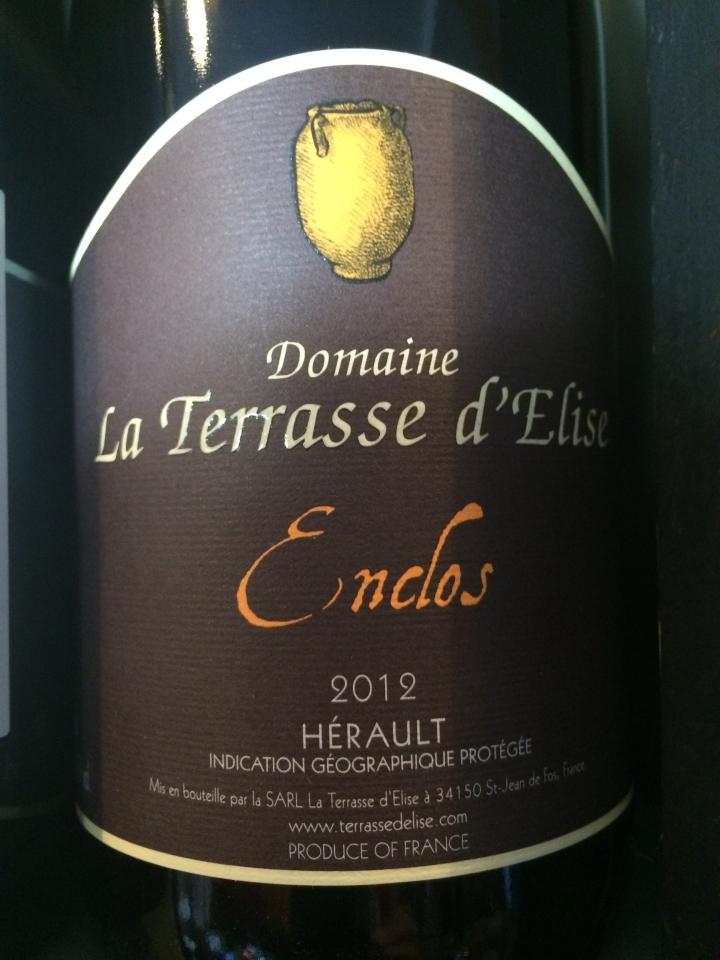 Domaine la Terrasse d'Élise - Enclos - 2012 - Rouge