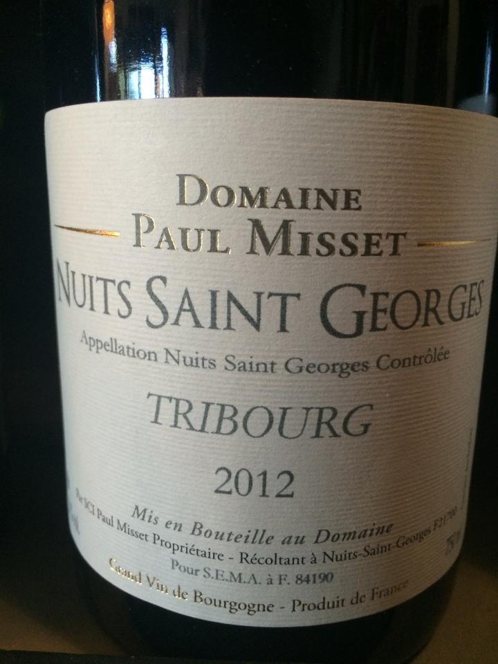 Domaine Paul Misset - Tribourg - 2012 - Rouge