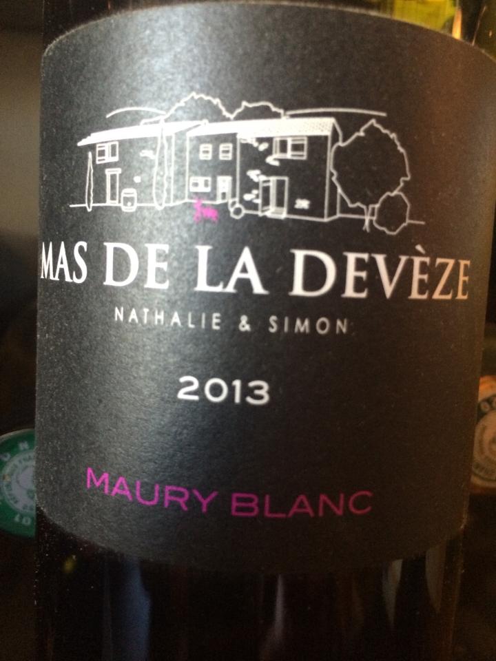 Mas de la Devèze - Maury Blanc - 2013